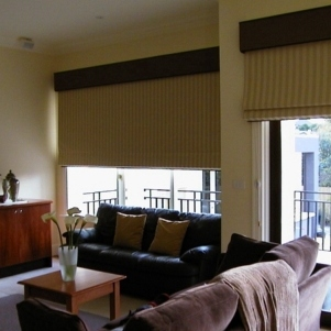 Roman blinds in a Brunswick home